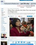 Olivia Chow attacks rival John Tory over record as a Rogers exec
